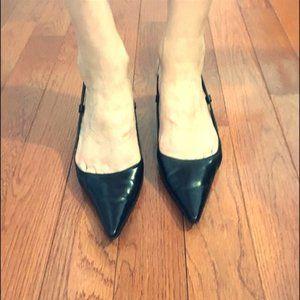 Women's dressy black kitten heels
